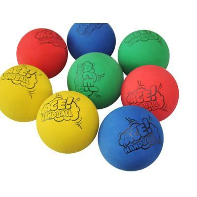 初學者訓練壁球快速6CM空心高彈力球橡膠高彈力球反應練習球[定制] 6CM單色隨機