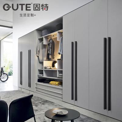 固特(GUTE) 加長衣柜門1米拉手黑色櫥柜把手現代簡約美式抽屜黑色實心柜門長大拉手9601 孔距96mm(總長110)