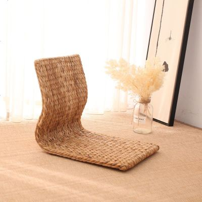 草編榻榻米靠背椅家用懶人臥室宿舍床上座椅飄窗無腿日式坐地椅子