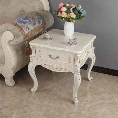 妙旭歐式邊幾客廳方幾小戶型沙發邊柜邊角幾圓桌帶抽電話桌木質小茶幾