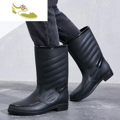 喻婁品牌夏季水鞋男雨靴高筒防水中筒雨鞋時尚防滑雨靴廚房水靴套鞋膠鞋潮