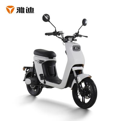 雅迪電動車歐睿48v鋰電池可取 新國標電瓶車代步車 歐睿雪珠白