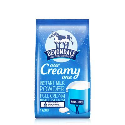 德运Devondale全脂高钙速溶奶粉1KG/袋澳洲成人奶粉调制乳粉