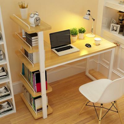三能 辦公家具簡約現代電腦桌臺式家用簡約書柜書桌一體書架組合學生寫字臺其他辦公桌子
