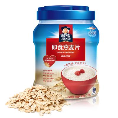 桂格(Qukaer) 即食燕麦片 经典原味 1kg罐装