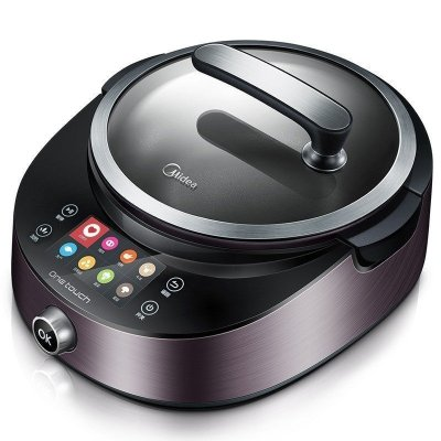 美的(Midea)PY18-X5 炒菜锅智能全自动炒菜机IH智能烹饪机 电炒锅 铝合金不粘涂 炒菜机