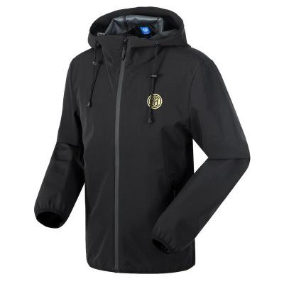 國際米蘭俱樂部官方新品男子休閑戶外運動防風防潑水保暖夾克梭織外套(Inter Milan)