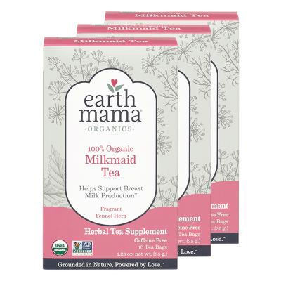 【3盒裝】美國地球媽媽(EARTH MAMA) 營養素 下奶茶/催奶茶增奶湯 通草生乳汁開奶追奶神器