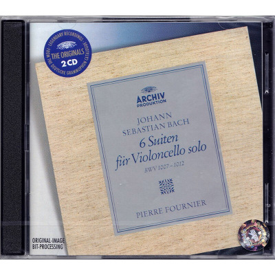 Bach 巴赫 六首無伴奏大提琴組曲 原版進口CD 富尼埃 4497112