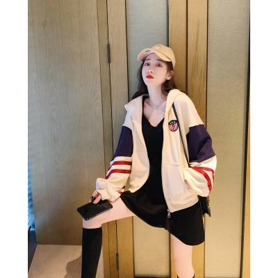 子沫雨JMOORY短款外套女裝春秋寬松韓版2020年春季新款薄款棒球服百搭運動衛衣