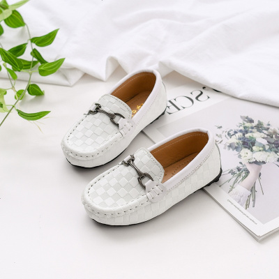 兒童豆豆鞋加絨春秋軟底嬰兒冬鞋保暖女童單鞋英倫男童寶寶小皮鞋