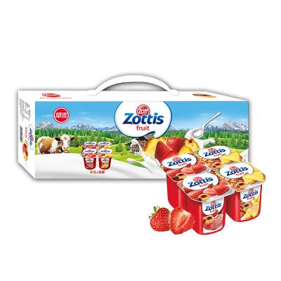 zott卓德脱脂含乳饮品 (草莓+菠萝)115g*12杯 德国进口酸牛奶