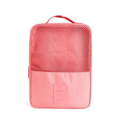 纳彩 鞋子收纳袋 便携旅行收纳袋收纳包 大容量鞋袋旅行用品 升级款二代鞋包粉红色