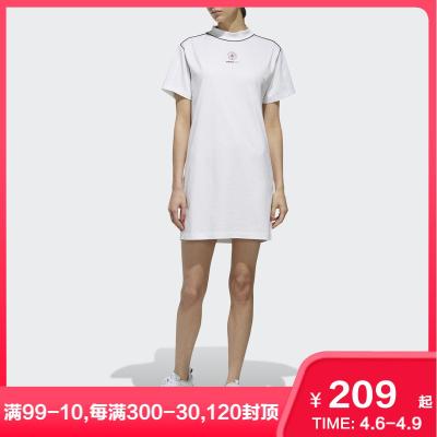 adidas阿迪達斯neo連衣裙休閑運動裙女圓領T恤裙子EJ7094 EJ7095