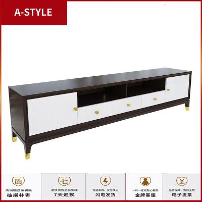 苏宁放心购美式轻奢实木电视柜家具后现代客厅电视柜套装组合小户型视听柜A-STYLE