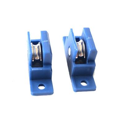 定做 鋁合金沙窗滑輪更換金剛網推拉紗窗滑輪軸承金屬輪子11mm寬不銹鋼滾輪