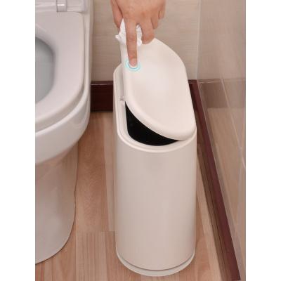 北欧垃圾桶家用客厅卧室按压式厕所垃圾筒厨房大号有盖卫生间纸篓