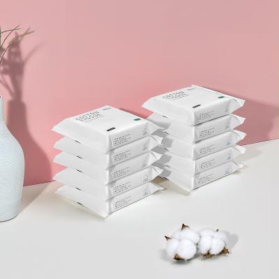 babycare棉柔巾一次性洗臉巾干濕兩用純棉加厚非濕紙巾 便攜裝20抽*10包
