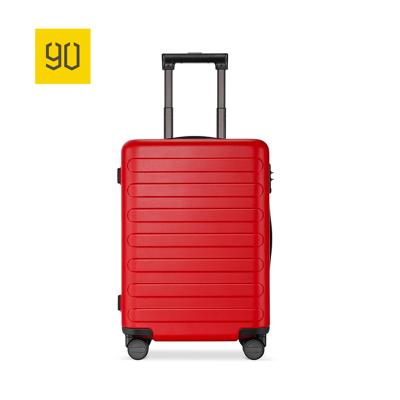 90分商旅兩用旅行箱靜音萬向輪商務登機行李箱子 男女密碼拉桿箱 珊瑚紅 20寸