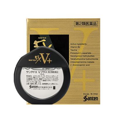 日本进口santen参天fx眼药水滴眼液洗眼液润眼液缓解疲劳眼部护理液 FX 金色版FX V+ 清凉度5+