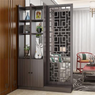 入戶屏風客廳新中式閃電客雙面鏤空隔斷柜裝飾置物架進玄關柜簡約現代