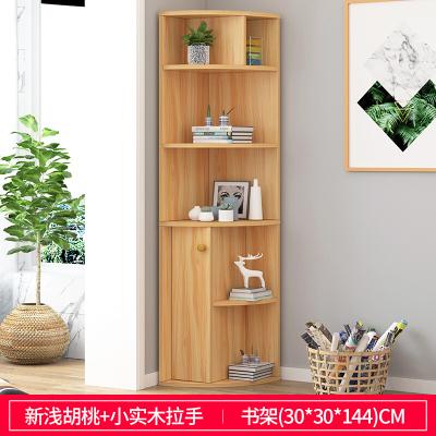 家具好货客厅沙发边小书柜转角拐角角落边角柜弧形置物架收纳书架子JD490 1A新款放心购