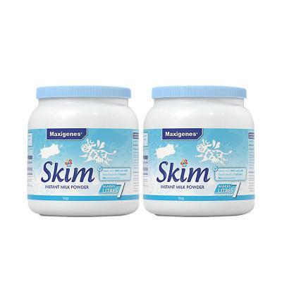 2件裝| Maxigenes美可卓脫脂奶粉 1kg/罐