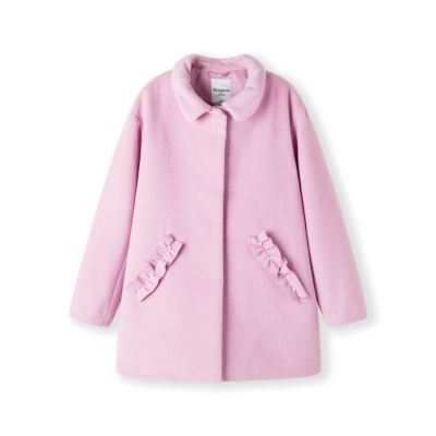 【1件5折】巴拉巴拉童装女童大衣冬装2019新款 洋气儿童呢子外套羊毛中大童