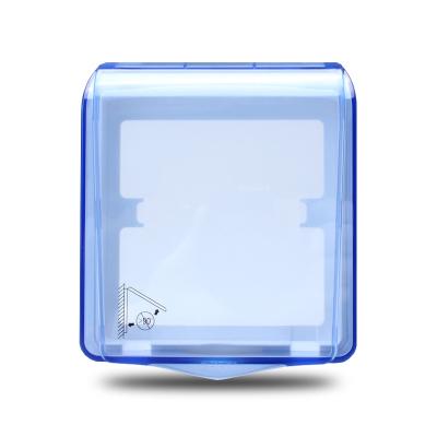 正泰电工 86型开关插座面板防水盒 防溅盒 防溅罩 透明开关罩(不含插座)开关/插座底盒