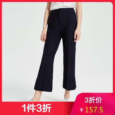 【1件3折價:157.5】MECITY女裝春季新款時尚OL風工裝褲西褲