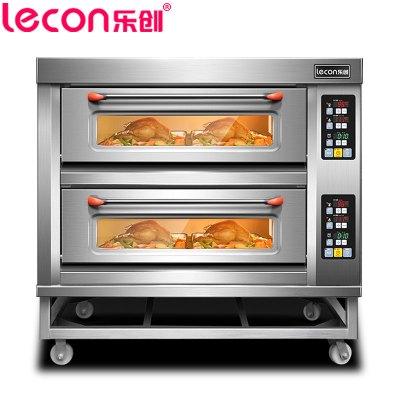 【(lecon)樂創電器旗艦店】YXD-Z204 商用烘培爐電烤箱 二層四盤電烤箱 微電腦控制