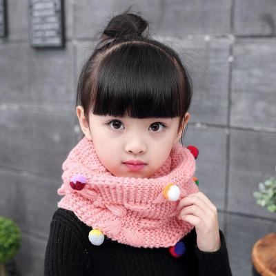 韓版秋冬兒童圍巾寶寶冬季保暖毛線脖套男童女童嬰兒可愛圍脖潮 莎丞