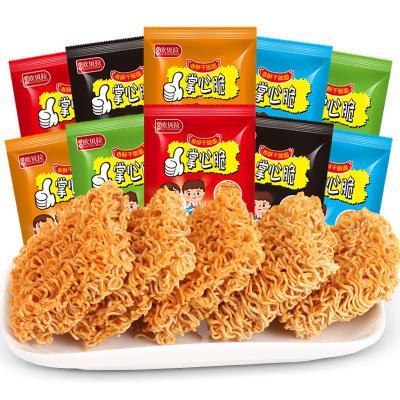 【D】歐貝拉掌心脆混合味10包干脆面掌心脆整箱裝火雞干吃面點心面好吃不貴的小時候懷舊零食品