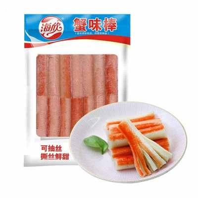 海欣蟹味棒235G 蟹味蟹柳 火锅丸子 火锅食材 烧烤食材 美味豆捞速食料理海鲜味
