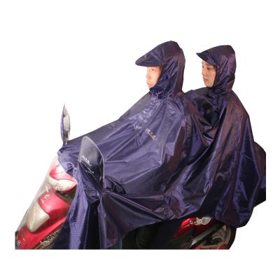 天堂傘 J231 雙人加大加長摩托車牛津布夜光條雨衣雨披 均碼