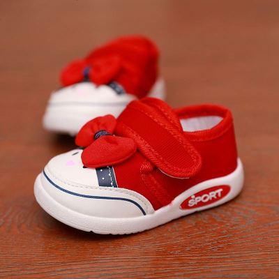 春秋嬰兒幼兒軟底兒童學步鞋寶寶女小童鞋1-3歲2幼童透氣帆布鞋子
