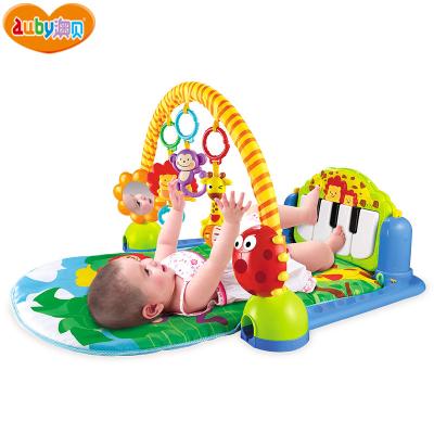 AUBY 澳貝 益智玩具森林鋼琴健身架 0-6個月腳踏鋼琴嬰兒健身架新生兒寶寶音樂63.5*10*46 463325DS