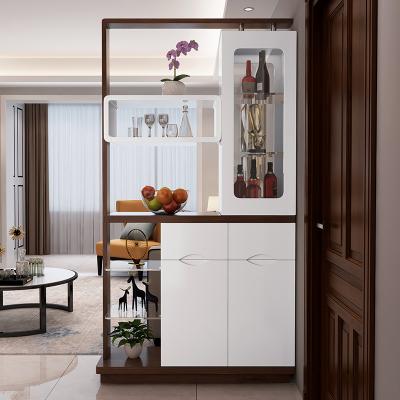 新柜尔(xin gui er furniture)入户客厅玄关柜间厅柜双面烤漆现代简约小户型隔断门厅柜酒柜收纳
