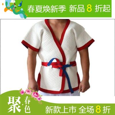 博朗特摔跤衣服男女摔跤服跤衣褡裢红蓝白色加厚