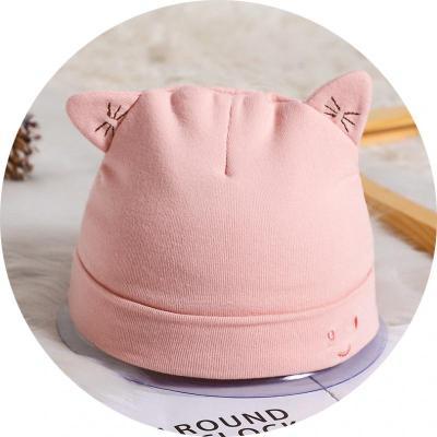 婴儿套头帽宝宝帽子秋冬婴儿帽子纯棉新生儿胎帽