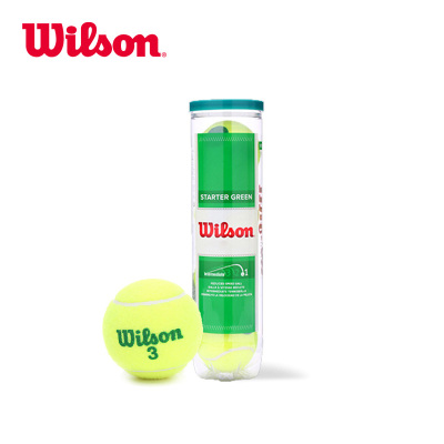 Wilson威爾勝訓練網球兒童青少年專球STARTER PLAY BALLS四個裝WRT137400
