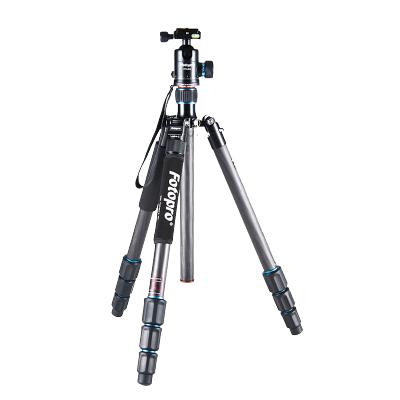 富图宝(Fotopro) MGC-684N+62Q 专业三脚架 单反相机碳纤维便携云台套装 相机三角架