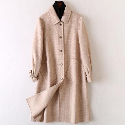 2020春季新款時尚羊毛呢子大衣女流行長款雙面毛呢外套
