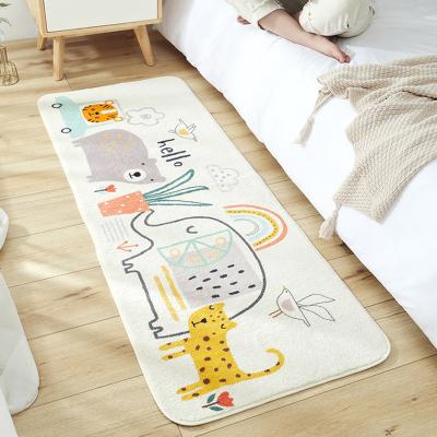 得喜DEXI 床邊地墊 家用羊羔絨地毯臥室地墊長條卡通防滑墊房間床邊墊子 客廳防滑舒適腳墊