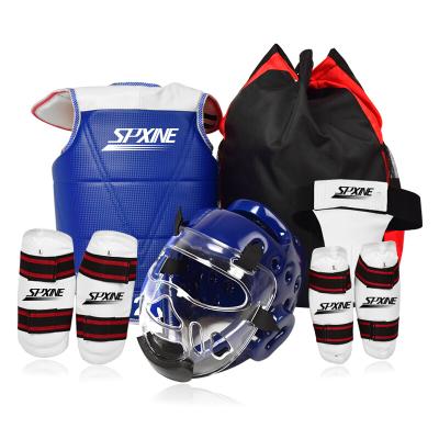 跆拳道護具全套兒童比賽型訓練套裝八件套五件套頭盔面罩空手道男【夏日上新】