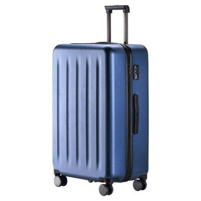90分旅行箱 靜音萬向輪行李箱20寸登機箱 純PC拉桿箱男女旅行箱 極光藍 20寸