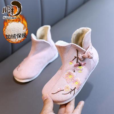 【新品特卖】汉服鞋子儿童古代绣花鞋女童古风小女孩古装宝宝老北京棉鞋舞蹈鞋