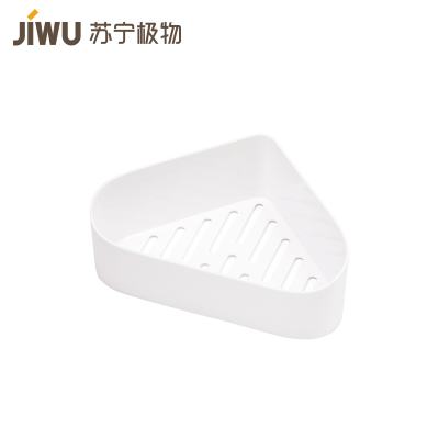 蘇寧極物 9.5*9.5*24 吸壁式 浴室 三角形置物架
