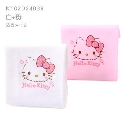 凱蒂貓兒童冰袖夏季超薄冰爽女孩冰絲防曬袖套女童卡通寶寶護手臂 KT02A24039兩副裝