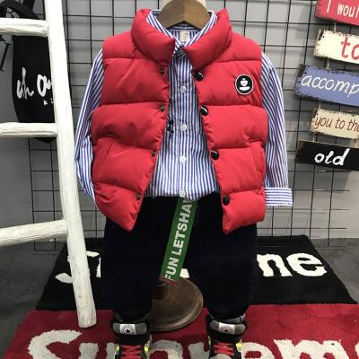 La MaxZa反季兒童羽絨棉馬甲男女童寶寶背心加厚保暖立領馬夾童裝坎肩外套